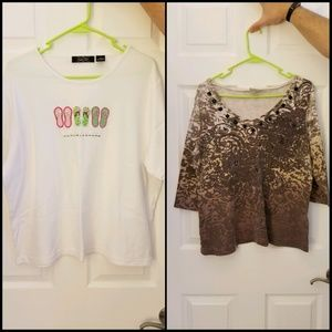 Tops - TWO 1x Tops